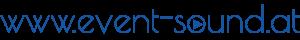 event-sound.at blau/weiß Schriftzug