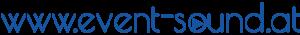 event-sound.at blau/weiß Schriftzug retina