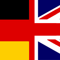 Deutsch/Englisch Flagge