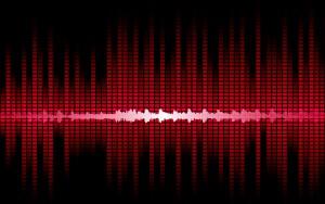 Tonspur in rot als Hintergrund