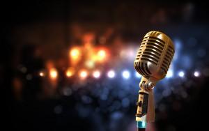 Mikrofon und Lichter