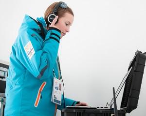 Marlies Bolter als Event DJ beim European Youth Olympic Festival